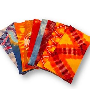 Tie dye bamboo neck gaiters motorcycle face masks